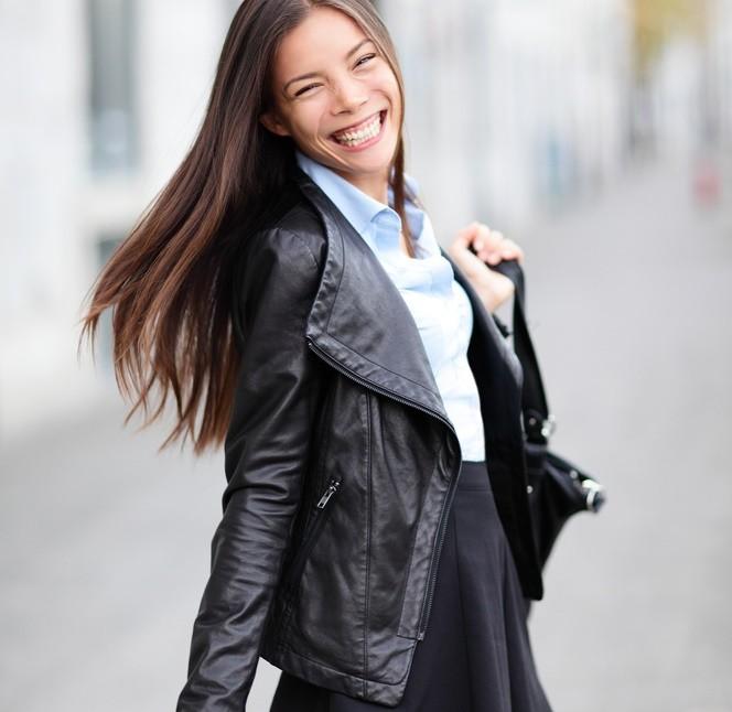 Стильные кожзам куртки