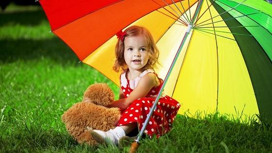 Красное платье для девочки на лето