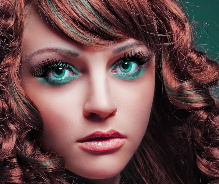 Красивые оттенки для зеленых глаз
