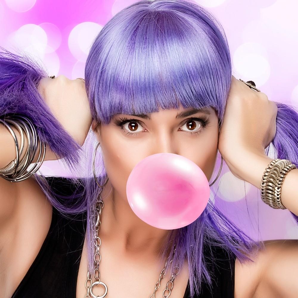 Восхитительный фиолетовый цвет волос