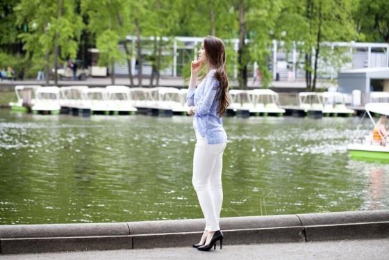 Стильные летние брюки большого размера