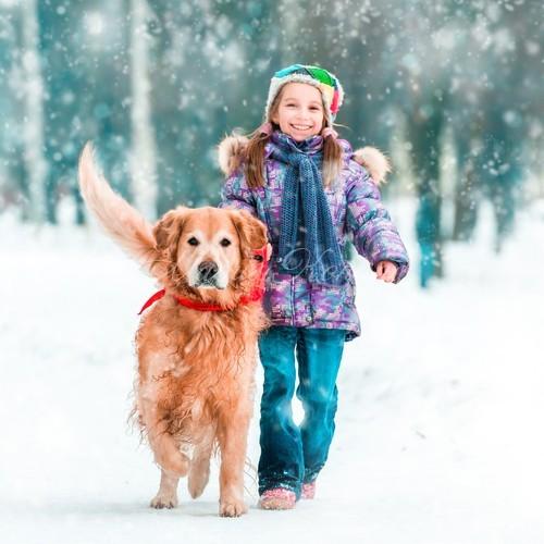 Красивое пуховое пальто детское