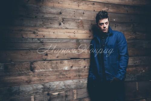Модная куртка синяя мужская