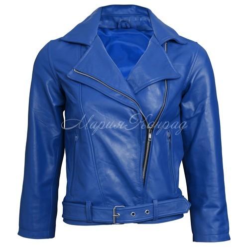 Лучшая синяя кожаная куртка